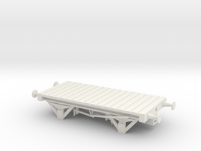 Small Flatbed NEM Coupling in White Natural Versatile Plastic