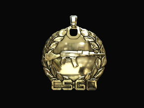 CS:GO - Master Guardian Pendant in Polished Brass
