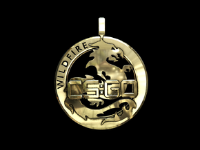 CS:GO - Operation Wildfire Medallion in Polished Brass