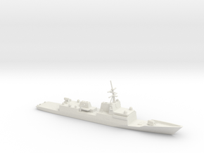 1/350 Scale General Dynamics FFG(X) Proposal in White Natural Versatile Plastic