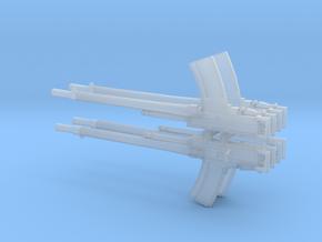 4 X 1/32 Breda 13.2mm Machine gun in Smooth Fine Detail Plastic