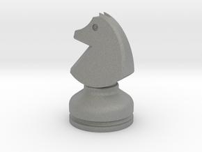 MILOSAURUS Chess MINI Staunton Knight in Gray PA12