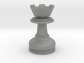 MILOSAURUS Chess MINI Staunton Rook in Gray PA12