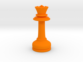 MILOSAURUS Chess MINI Staunton Queen in Orange Processed Versatile Plastic