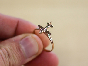 Plane Ring in 14k Rose Gold