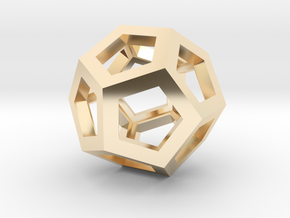 Dodecahedron in 14K Yellow Gold