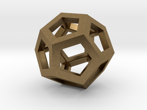 Dodecahedron in Raw Bronze
