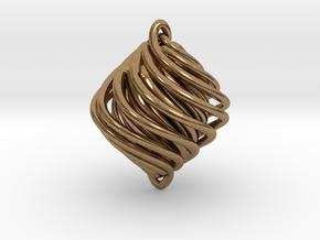 Twist Pendant in Natural Brass