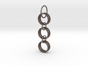 THREE TIES OF LOVE PENDANT in Polished Bronzed-Silver Steel