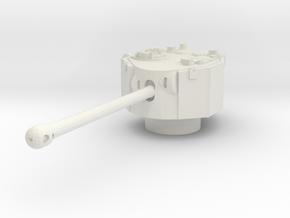 Challenger turret 1/100 in White Natural Versatile Plastic