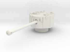 Challenger turret 1/87 in White Natural Versatile Plastic