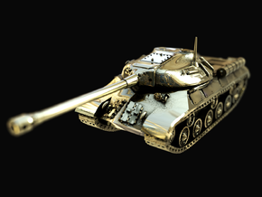 Tank - IS-3 / Object 703 - size Small in Polished Brass