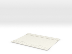 150mm Road section - Straight in White Natural Versatile Plastic