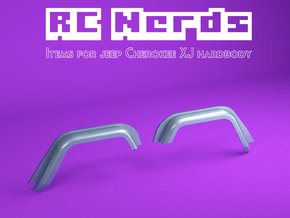 RCN222 Front wheel arches for Team Raffe Jeep xj in White Natural Versatile Plastic