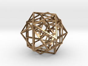 Nested Platonic Solids in Raw Brass