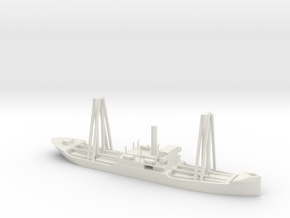 1/600 Scale 4200 ton Steel Cargo Ship Sapor in White Natural Versatile Plastic