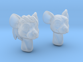 Anthropomorphic mouse heads (HSD Miniatures) in Smooth Fine Detail Plastic