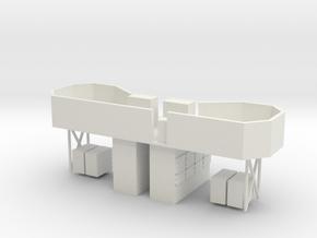 1/96 HMS Garland 20mm Bridge in White Natural Versatile Plastic