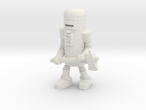 Dr. Satan's Robot, Axeman in White Natural Versatile Plastic: Small