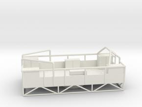 1/96 HMS Garland 3 inch platform in White Natural Versatile Plastic