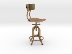 1:24 Industry Stool in Raw Brass