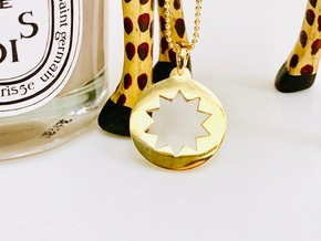P O W E R  Pendant in 14k Gold Plated Brass