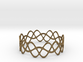 Braided Wave Bracelet (67mm) in Natural Bronze