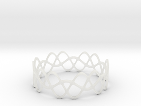 Braided Wave Bracelet (67mm) in Smooth Fine Detail Plastic