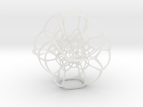 Inverted Truncated Octahedral Lattice in Smooth Fine Detail Plastic