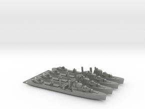 4pk with sprue Intrepid class 1:1200 WW2 destroyer in Gray PA12