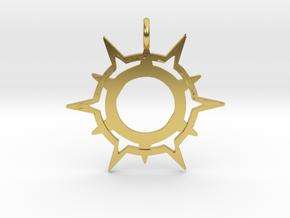 Symbol of Pelor in Polished Brass