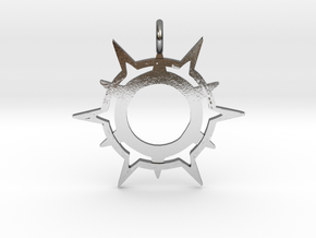 Symbol of Pelor in Polished Silver