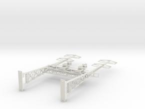HO Scale PRR W-signal LATTICE 2 Track  W 2-2 PHASE in White Natural Versatile Plastic