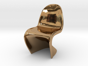 "Panton Chair 1:10 (1/2"") Scale  in Polished Brass"