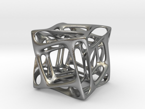 Duality Cube Silver in Raw Silver
