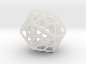 Double Icosahedron Silver in Smooth Fine Detail Plastic