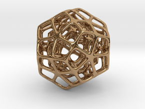 Double Dodecahedron Silver in Polished Brass