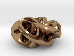 Moebius II, pendant in Natural Brass