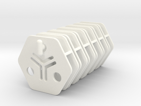 Tile links Downfall proto in White Processed Versatile Plastic