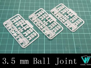 Articulated Hand - Type I (3.5mm ball joint) in Smooth Fine Detail Plastic