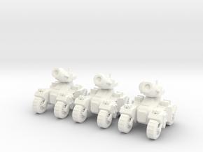 6mm - Rapid deployment Artillery in White Processed Versatile Plastic