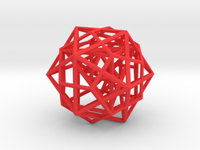 Nested Platonic Solids IDHTO 80mm in Red Strong & Flexible Polished