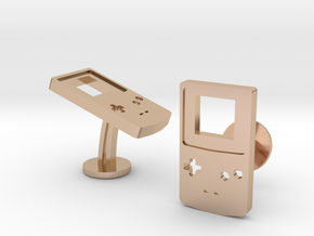 Nintendo GameBoy Color Cufflinks in 14k Rose Gold Plated Brass
