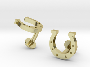 Horse Shoe Cufflinks in 18k Gold Plated Brass