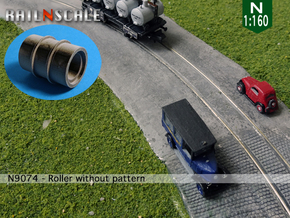Roller without pattern (N 1:160) in Smooth Fine Detail Plastic