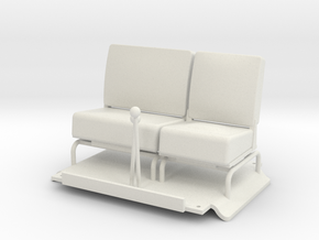 Seats-LHD-1to16 in White Natural Versatile Plastic