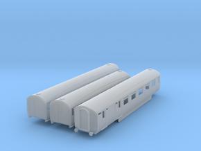 o-148fs-lner-silver-jubilee-E-F-G-triplet-coach in Smooth Fine Detail Plastic