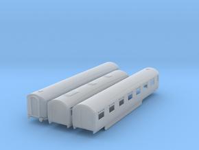 o-148fs-lner-silver-jubilee-C-D-triplet-coach in Smooth Fine Detail Plastic