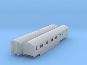 o-148fs-lner-silver-jubilee-A-B-twin-coach in Smooth Fine Detail Plastic