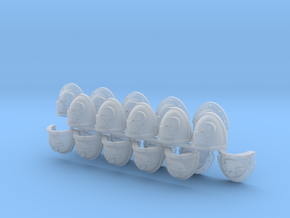 Commission 67 shoulder pads part G in Smooth Fine Detail Plastic